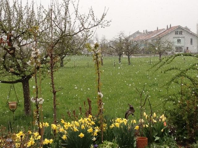 Interlaken and easter snowfall
